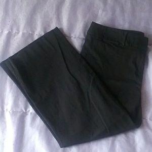 Black Wide Leg Crop Pant - Loft, Size 6